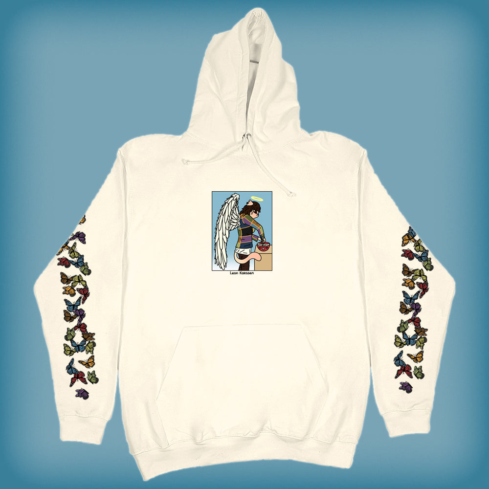 cooking angel hoodie cream