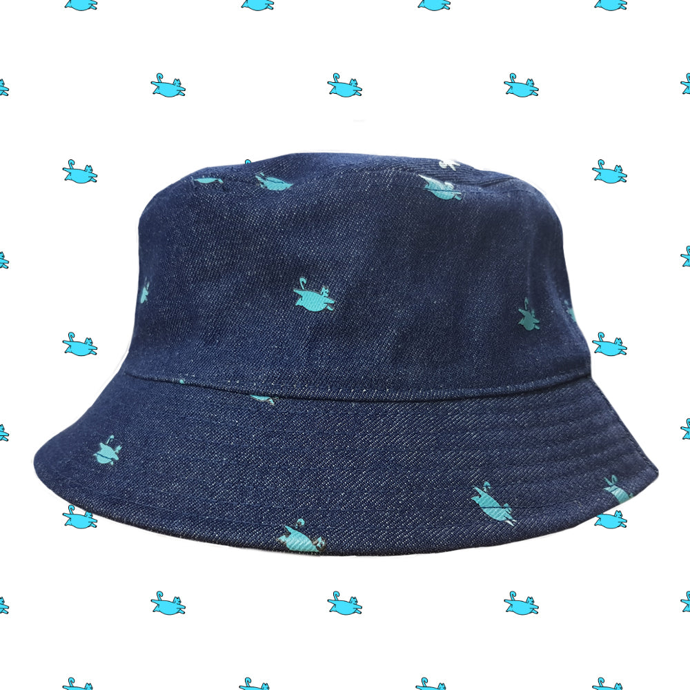 fatcat denim bucket hat