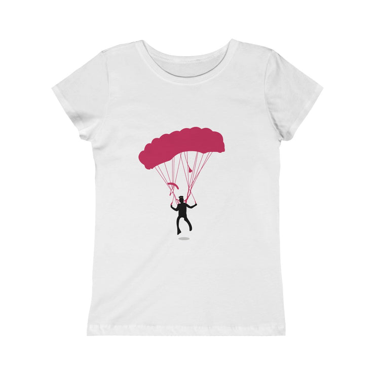 PPC - Girls Princess Tee - Hot Pink Puff