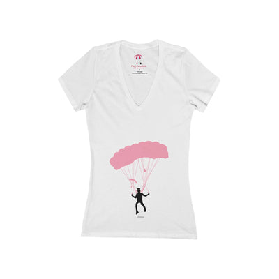 PPC -  V Neck T-shirt in Cool Pink
