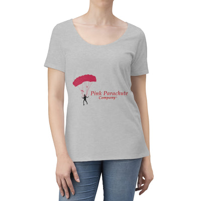 Pink Parachute Company - Women's  Fuschia Scoop Neck T-shirt