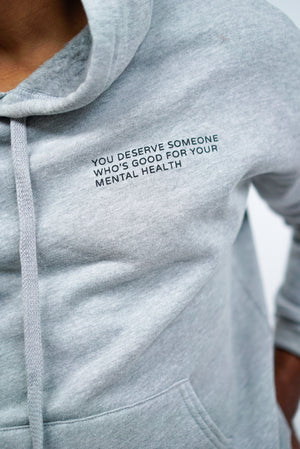 Mental Health Hoodie - Heather Grey