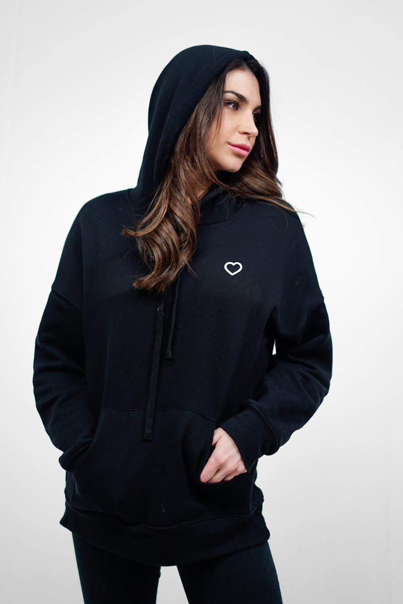 No Matter What, Love Hoodie - Black