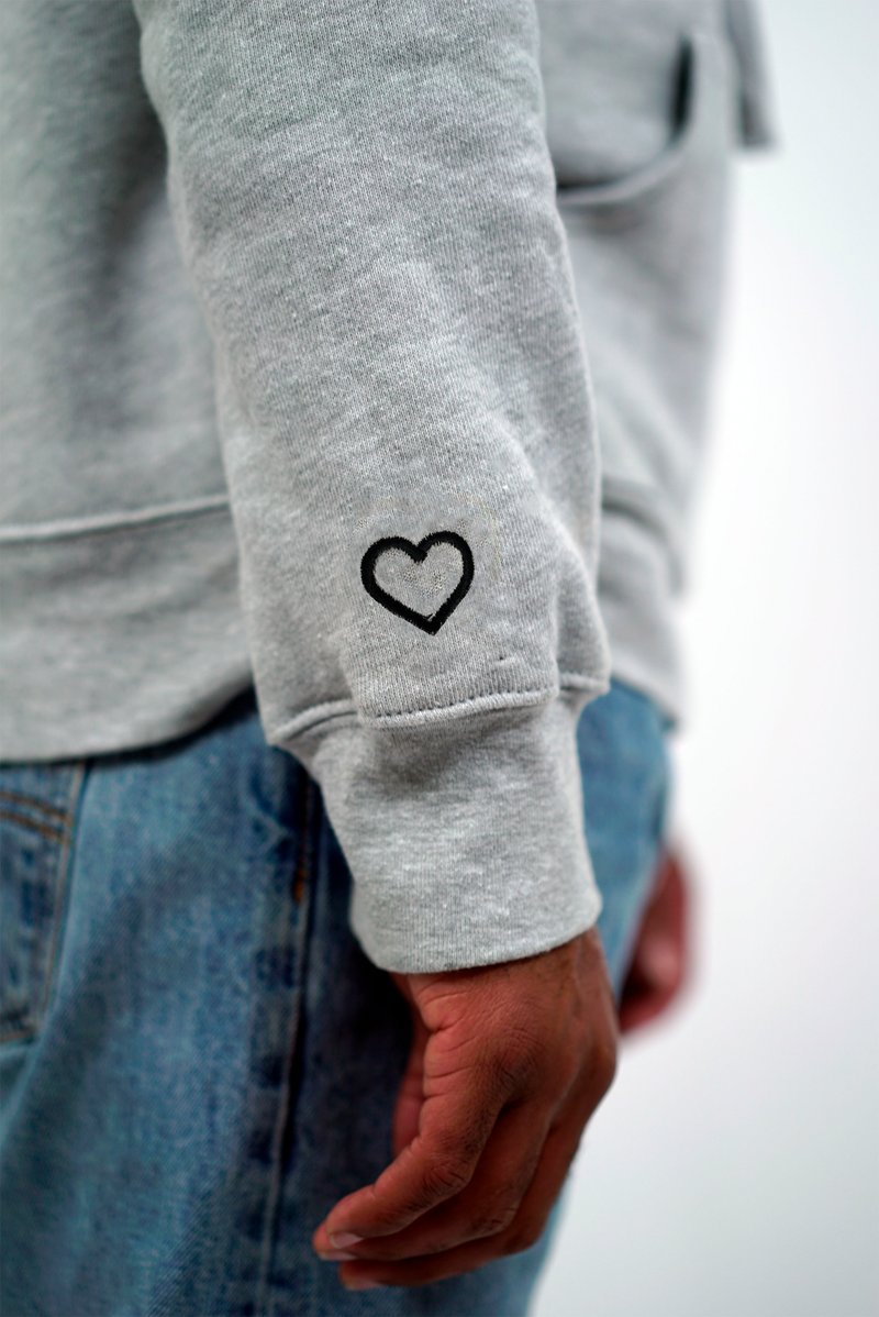 Signature Heart On Your Sleeve Hoodie - Navy