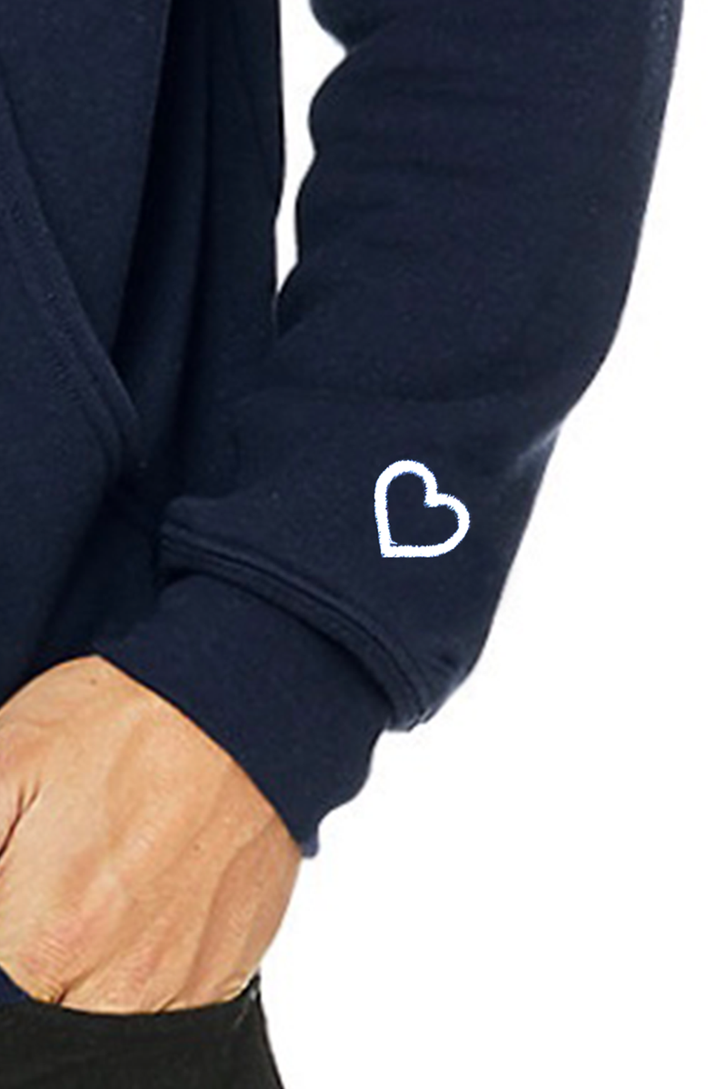 Signature Heart On Your Sleeve Hoodie - Heather Grey