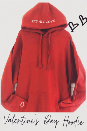 """It's All Love"" Hoodie - Cardinal"