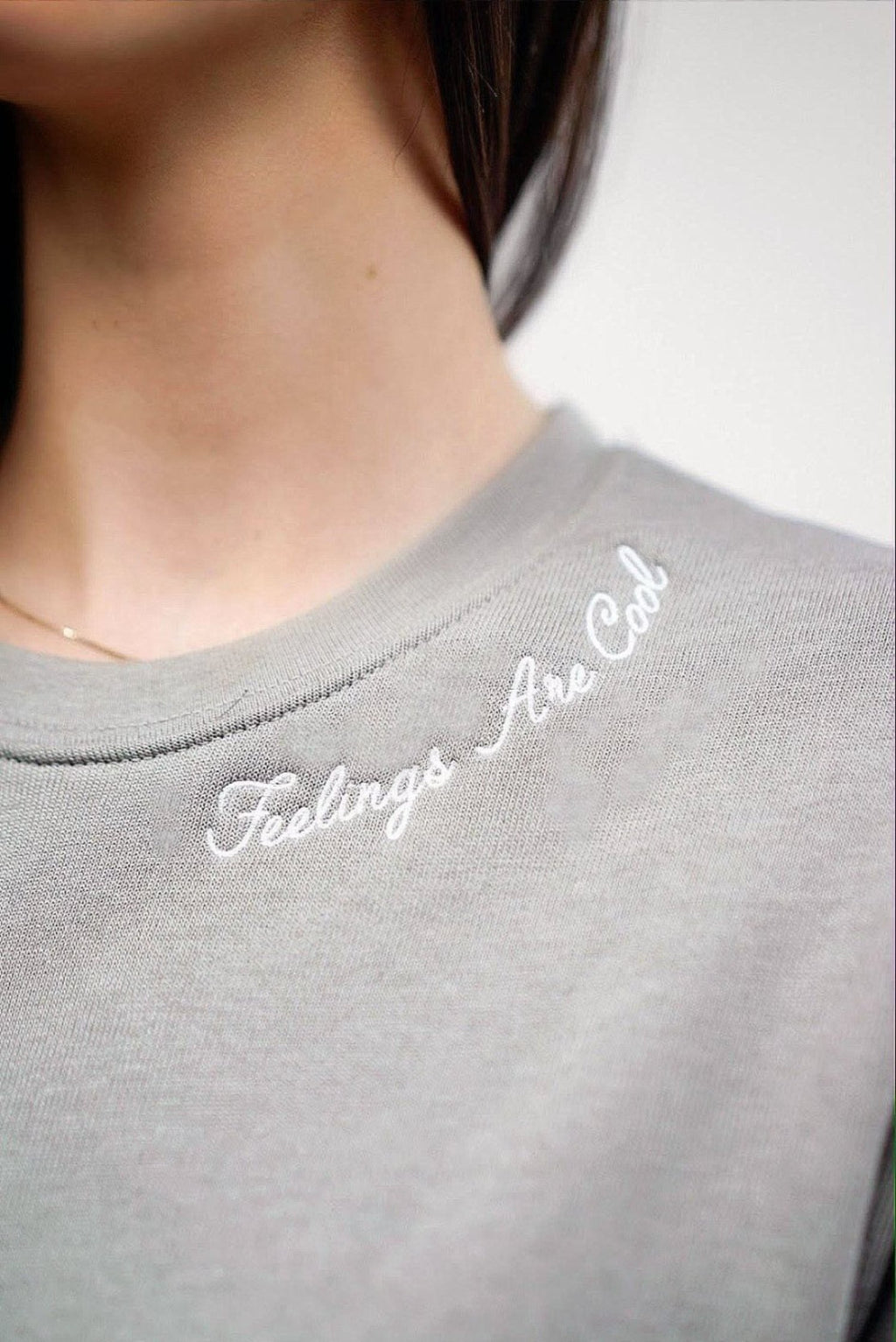 Feelings Are Cool Crewneck - Heather Stone