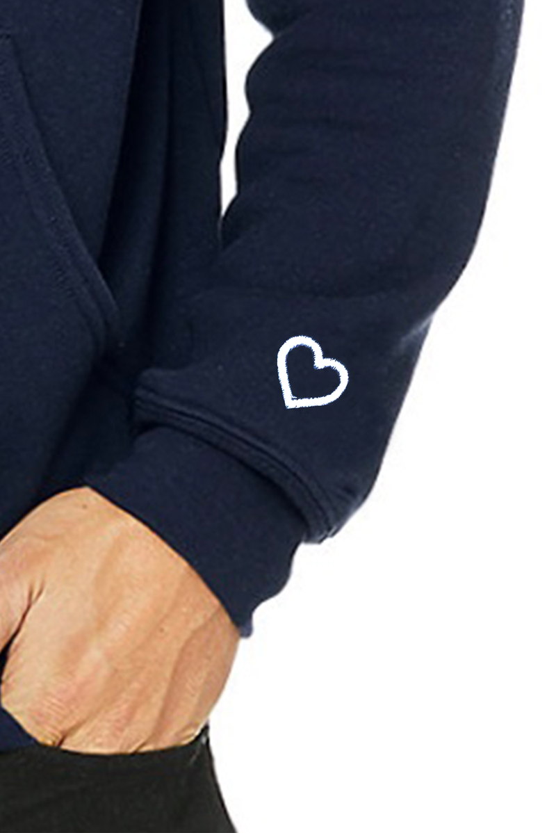 Signature Heart On Your Sleeve Hoodie - Black