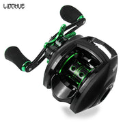 LINNHUE Best Baitcasting Reel 8.1:1 12+1BB Bass Fishing Reel 8KG Max Drag Left Right Hand Reel Reinforced Nylon Body White Bass - fishingtools-co