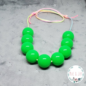 Chunky Neon Green Necklace