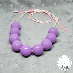 Chunky Neon Lavender Necklace