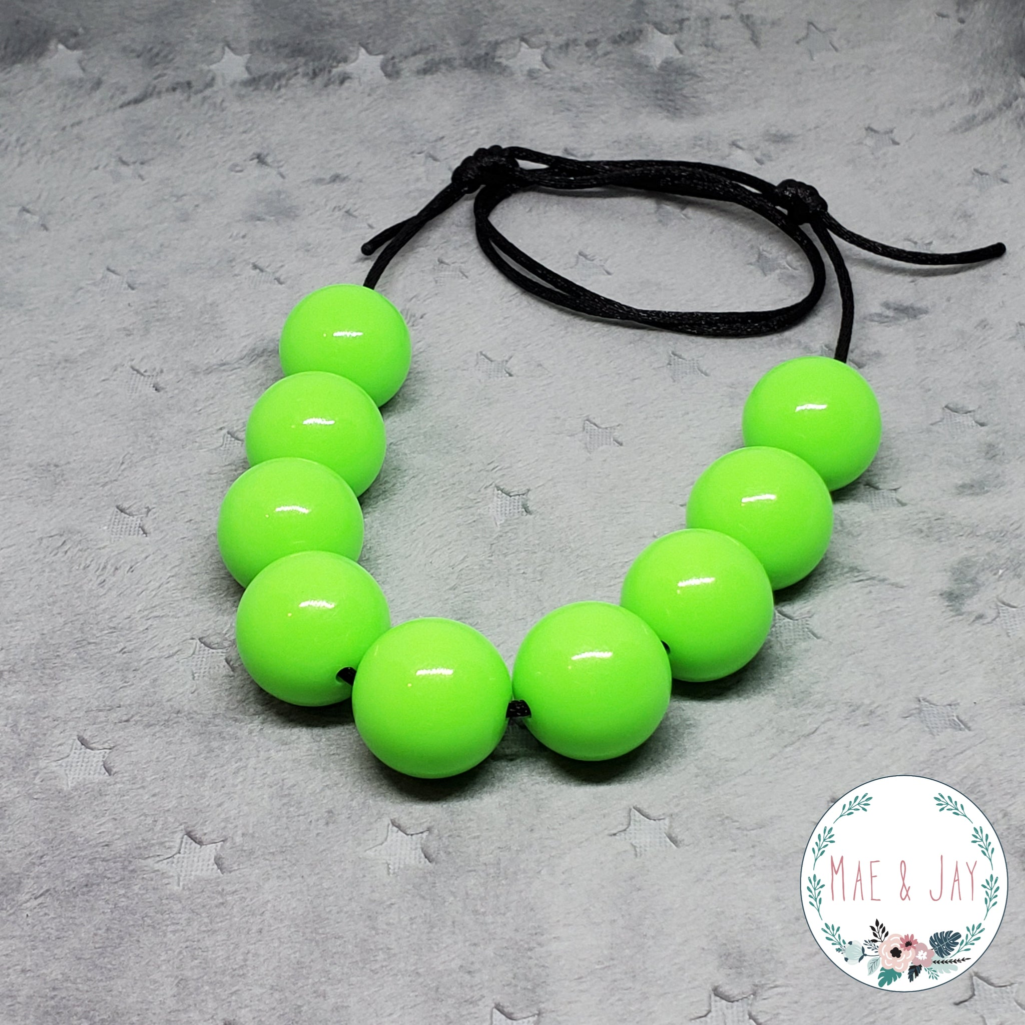 Chunky Neon Lime Necklace