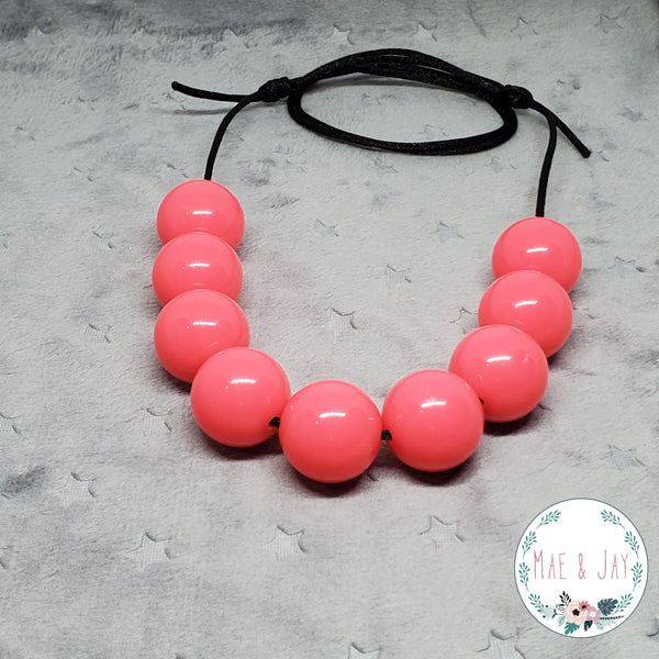 Chunky Neon Pink Necklace