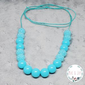 Mini Blue Sparkle Necklace