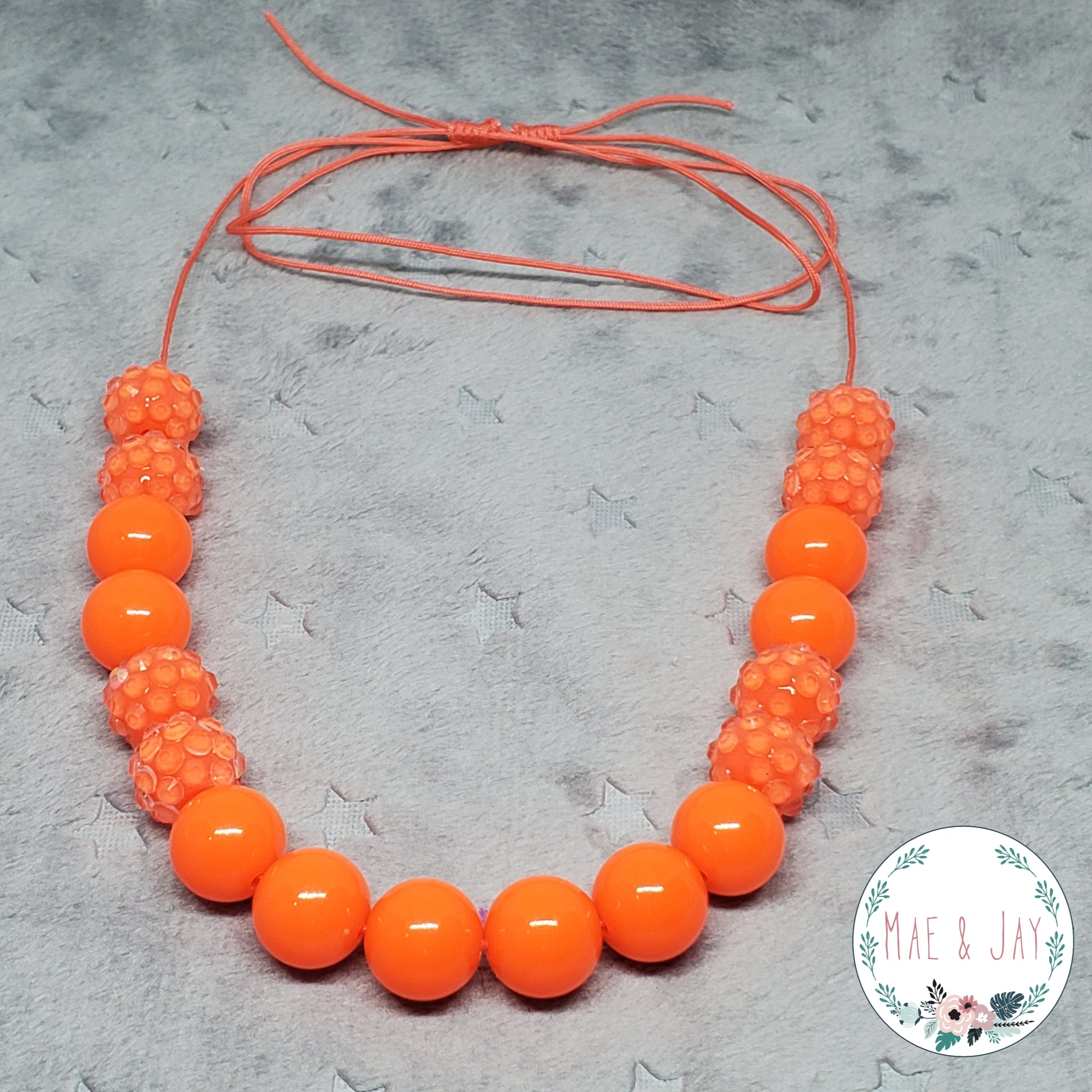 Mini Coral Sparkle Necklace