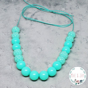 Mini Teal Sparkle Necklace