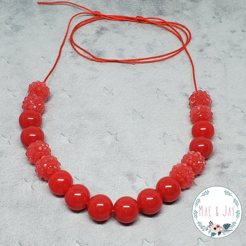 Mini Red Sparkle Necklace