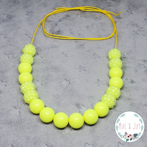 Mini Yellow Sparkle Necklace