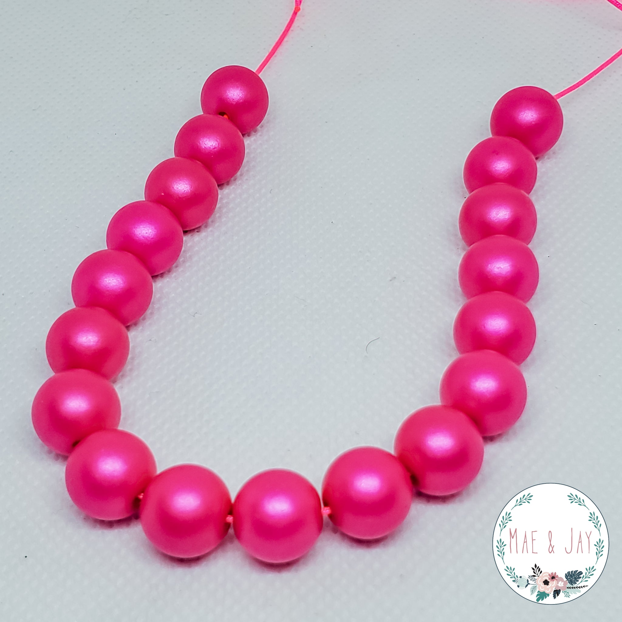 Hot Pink Mini Necklace
