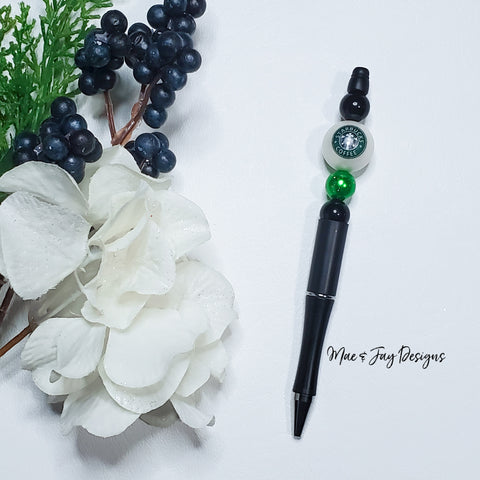 Starbucks Beaded Pen