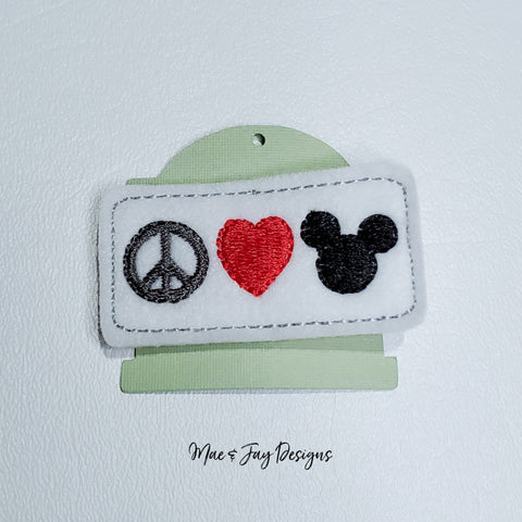 Peace, Love, Mouse Hairclip