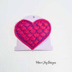 Mermaid Heart Hairclip