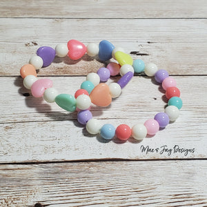 Pastel Rainbow Hearts Stacker
