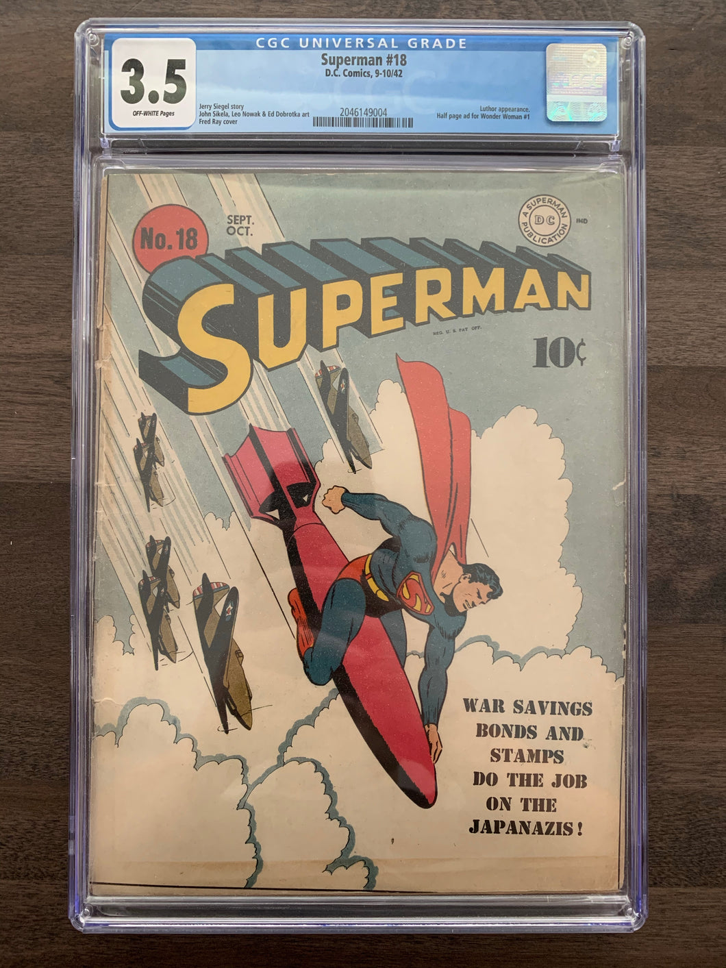Superman #18 CGC 3.5 - Lex Luthor