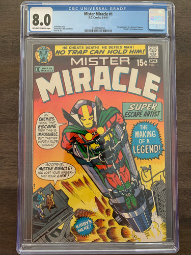 Mister Miracle #1 CGC 8.0 - 1st Mister Miracle