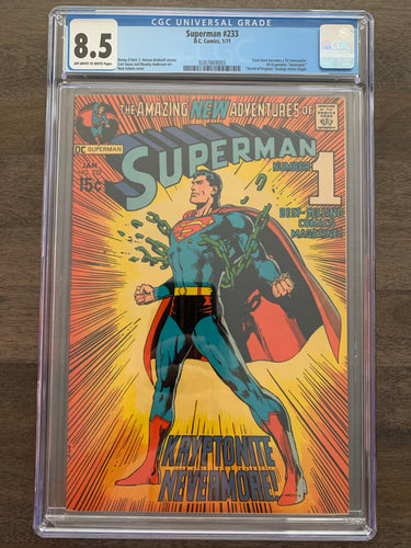 Superman #233 CGC 8.5 - Neal Adams