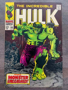 Incredible Hulk #105 - 1st Missing List
