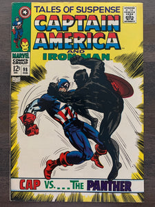 Tales of Suspense #98 - 1st Captain America versus Black Panther