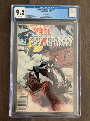 Web of Spider-Man #1 CGC 9.2 CPV