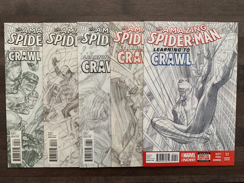 Amazing Spider-Man #1.1, 1.2, 1.3, 1.4 & 1.5 - Alex Ross Sketch Covers