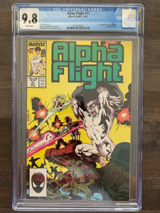 Alpha Flight #51 CGC 9.8 - 1st Jim Lee at Marvel Comics