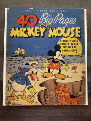 40 Big Pages of Mickey Mouse #945 RARE