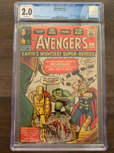 Load image into Gallery viewer, Avengers #1 CGC 2.0 - 1st Avengers