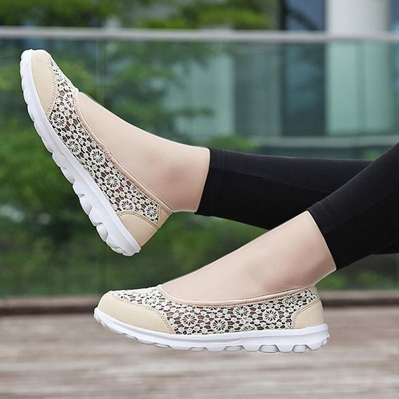 Women's Lace Screen Breathable Net Flat Shoes