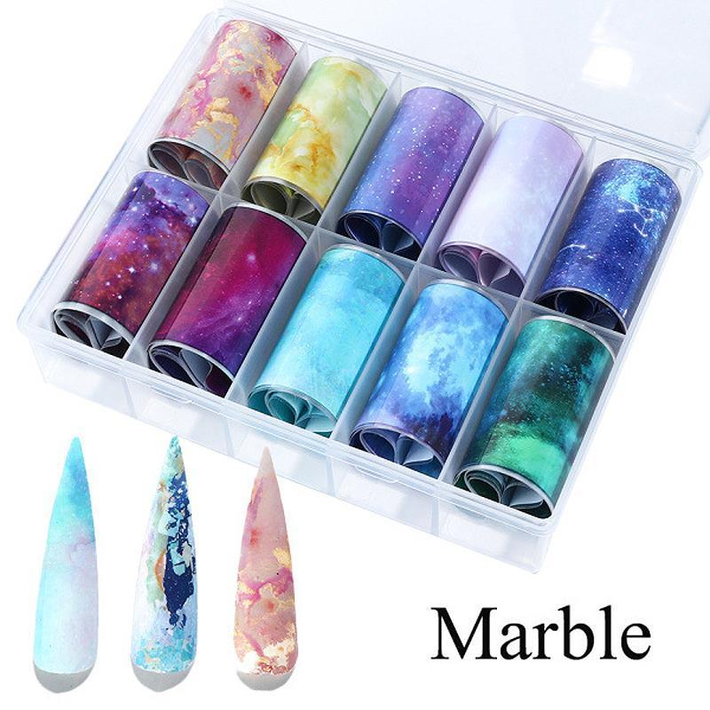 Nail Art Transfer Foils (Set of 10)