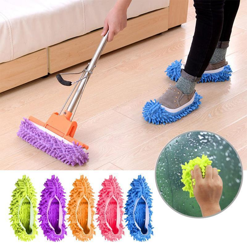 FunClean Mop Slippers, 1 pair