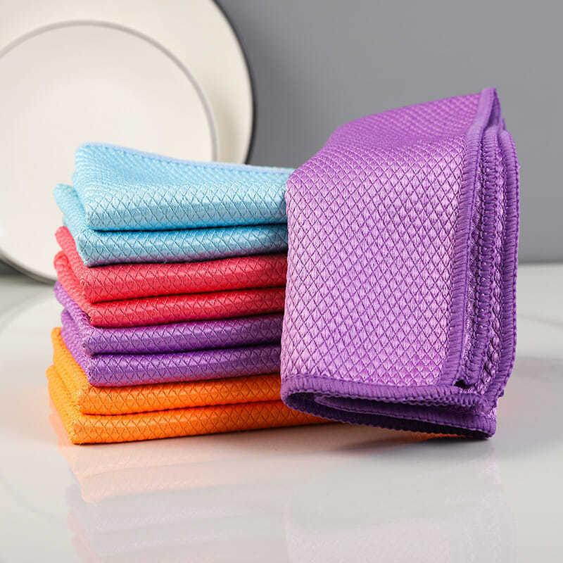 Presale Fish Scale Microfiber Polishing Cleaning Cloth 5 Pcs