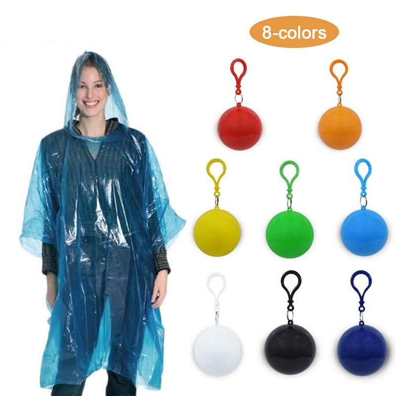 Disposable Emergency Raincoats with Portable Box