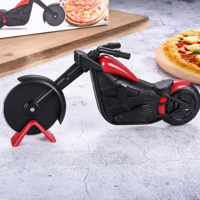 Unique Motorcycle Style Pizza Cutter