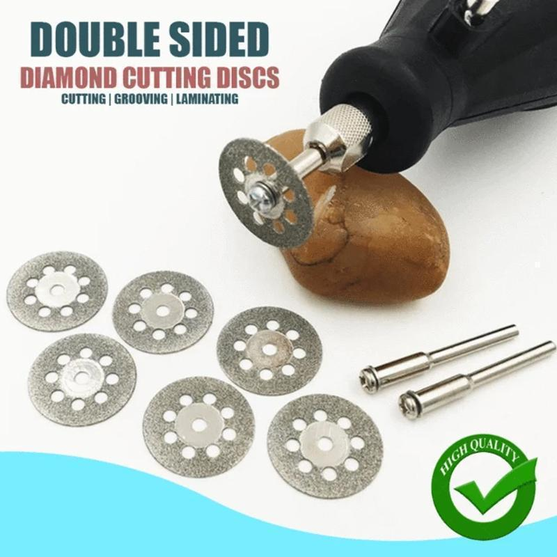 Diamond Cutting Wheel Set (10 PCs and 2 Rods)