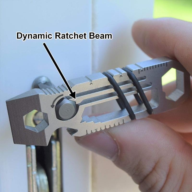 Ratcheting Keychain Multitool