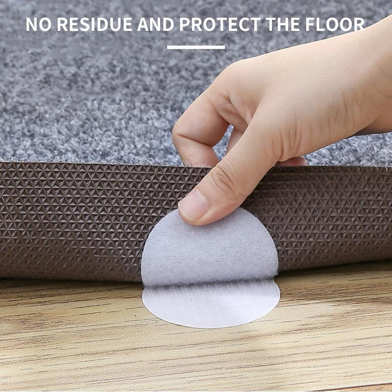 Rug Anchors Carpet Non-Slip Hook and Loop(5 pairs / box)