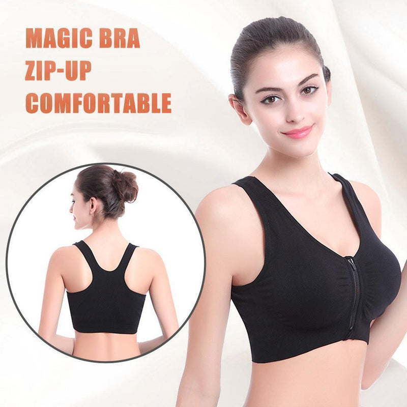 Magic Zip-up Comfort Bra