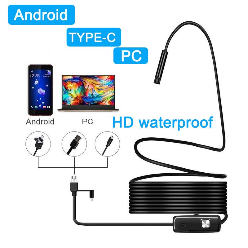 Android Endoscope Flexible and Waterproof Camera