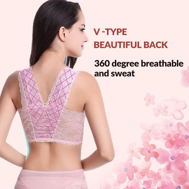 Women's Seamless Sports Lace Bra