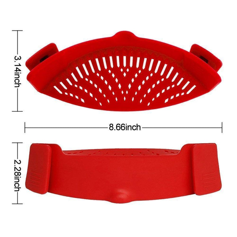 Silicone Clip on Strainer
